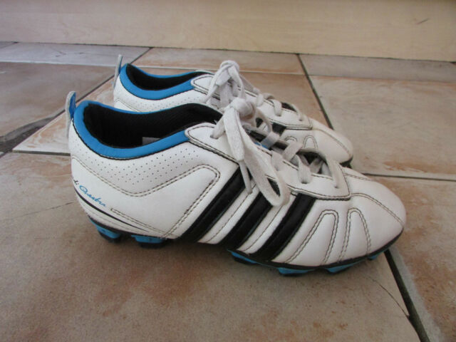Young Boys Adidas Football Boots UK 13 Moulded Blades signed by football player