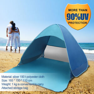 Pop-Up-Beach-Portable-Canopy-Sun-Shade-Shelter-Outdoor-Camping-Fishing-Tent-Blue