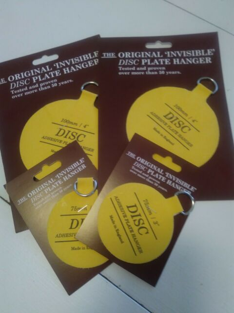 """50mm 4 SIZE 2/"""" The ORIGINAL Invisible DISC PLATE HANGER for PLATES UP TO 6/"""""""