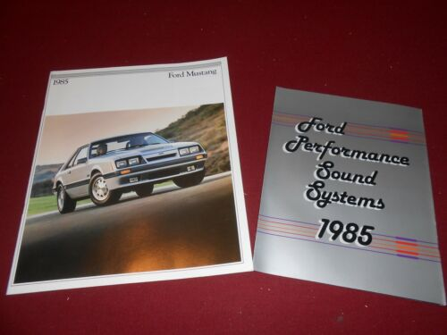 1985 FORD MUSTANG LX GT SVO ORIGINAL 26 p BROCHURE 85 SOUND SYSTEMS CATALOG