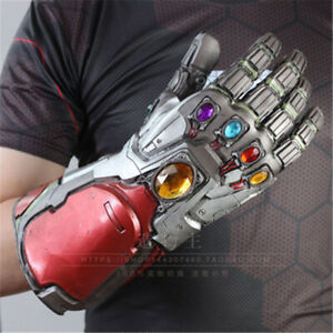 Avengers-Endgame-LED-Latex-Glove-Infinity-Stone-Gauntlet-Iron-Man-Cosplay-Props