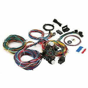 21 circuit universal wire harness 21 fuse 12v street hot rat muscle rh ebay com