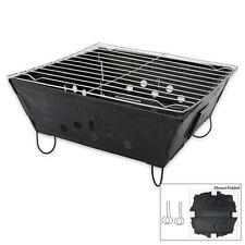 PIEGHEVOLE Pieghevole Bbq Barbecue FLAT PACK PORTATILE DA CAMPEGGIO GIARDINO ESTERNO GRILL