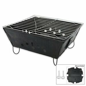 Foldable-Folding-BBQ-Barbecue-Flat-Pack-Portable-Camping-Outdoor-Garden-Grill