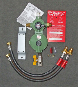 FOUR CYLINDER LPG PROPANE GAS AUTOMATIC CHANGE-OVER KIT WITH OPSO 4 BOTTLE