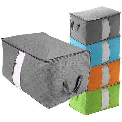 Large Jumbo Clothes Bedding Duvet Zipped Handles Storage Bag Box GN