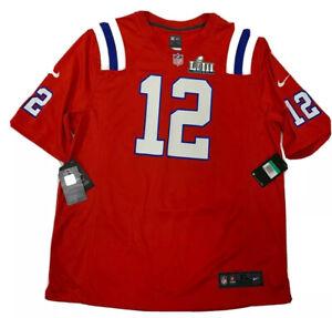 New Tom Brady XL Mens New England Patriots Red Super Bowl 53 Nike ...