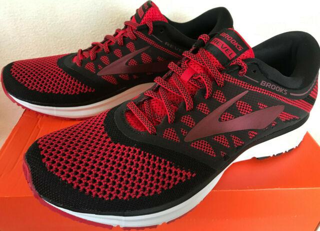 Brooks Revel Mens Size 10 Red Black