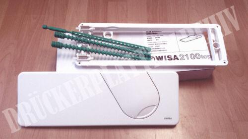 Montage von oben WISA Modell 2100 TOP weiß Betätigungsplatte Drückerplatte