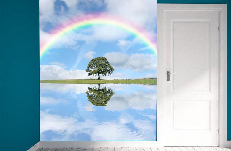 3D arcobaleno 366 Parete Murale Foto Carta da parati immagine sfondo muro stampa