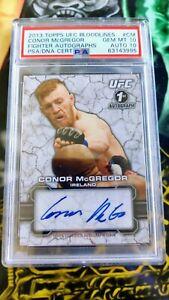 2013 Topps UFC Conor McGregor Bloodlines ROOKIE RC AUTO PSA 10 Auto 10! POP 11!