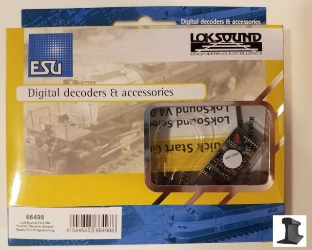 ESU 66498 New 2019 LokSound V4.0 M4 PluX16 NEM658 With Speaker ~ Factory Sound