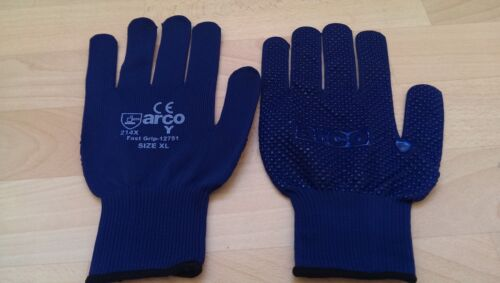 """6 PAIRS OF ARCO FAST GRIP DOTTED GLOVES /""""NEW/"""" /& /""""FREE P/&P/"""""""