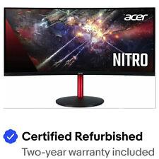 "Acer Nitro - 34"" Curved Monitor UW-QHD 3440x1440 75Hz IPS 21:9 1ms MPRT 300Nit"