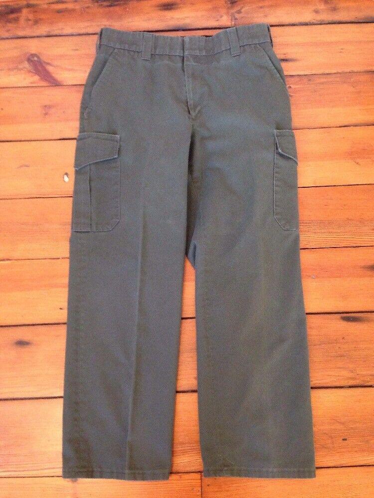 National Park Service Ranger Green Cotton Blend Work Uniform Pants 34 34x28