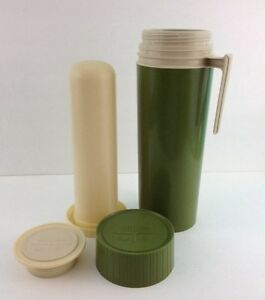 KST-King-Seeley-Thermos-7402-Plastic-Glass-Insulated-Avocado-Green-Hot-Cold