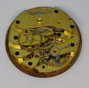 Rare-Vintage-Swiss-Longines-Baume-amp-Co-Cal-12-91-Pocket-Watch-Movement-27mm
