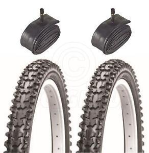 2-Bicycle-Tyres-Bike-Tires-BMX-Mountain-Bike-20-x-2-125-amp-Schrader-Tube