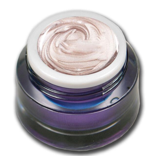 Premium Metallic Farb UV Gel 5ml Fog Pearl Weiss-Rosa Nageldesign #00565-40