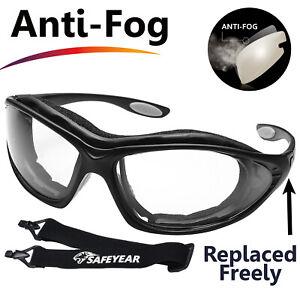 SAFEYEAR-Safety-Glasses-Work-Goggles-Anti-Fog-Seal-Eye-Inner-Foam-Head-Strap-Z87