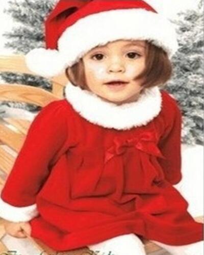 Baby Girls Christmas Xmas Mrs Santa Fancy Costume Dress Outfit Hat 6 12 18 24 m