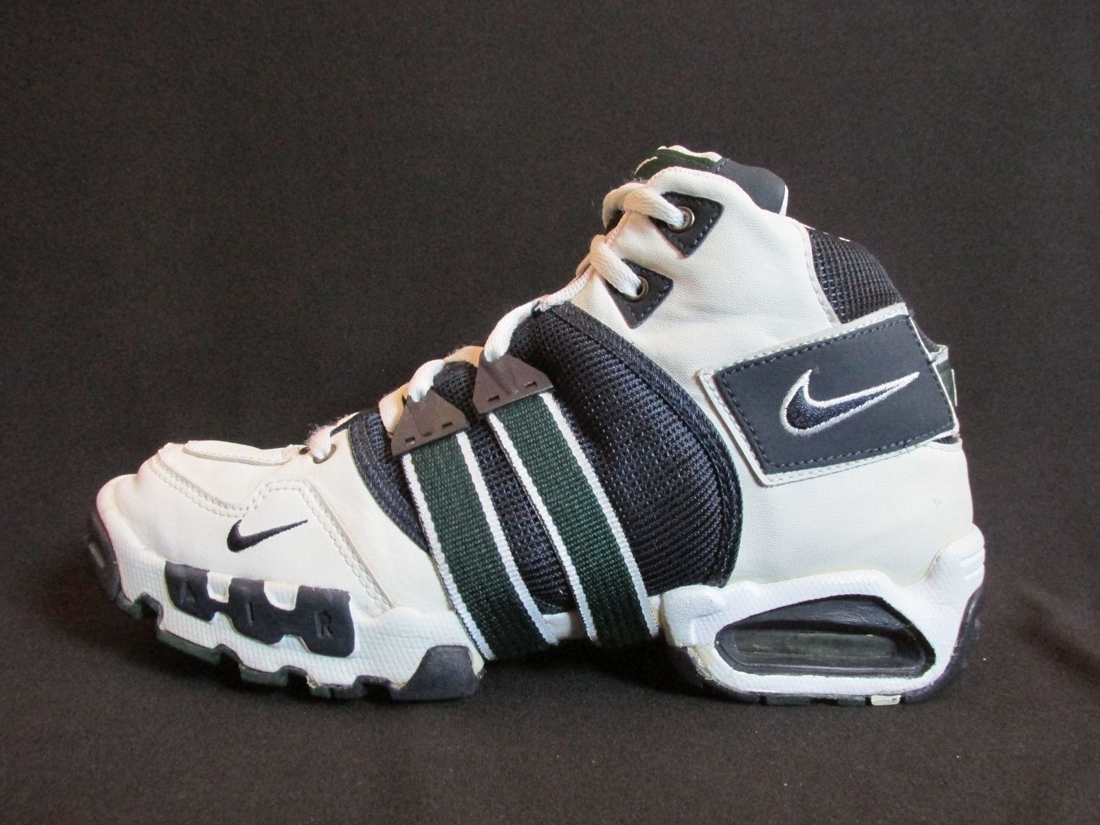 Nike 970305 ID White Leather Navy Textile Green Basketball Basketball Basketball shoes   Women's US 10 052b49