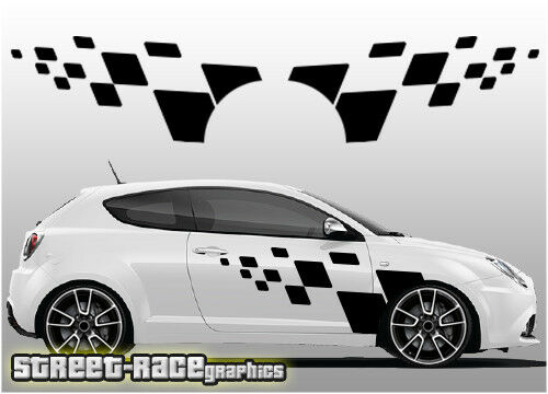 Alfa Romeo Mito 018 racing flag graphics stickers decals