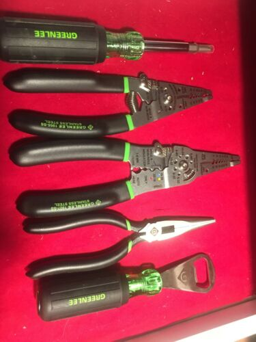 Electrical Tools Greenlee 5-Piece Tool Set Brand New