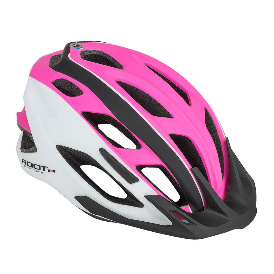 Author Fahrradhelm Root Inmold Größe M 53cm-59cm Dial-Fit black pink white