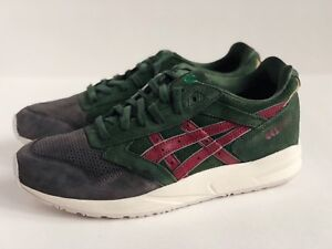 more photos 88809 b703c Details about ASICS GEL SAGA [SZ 11.5] CHRISTMAS TREE DARK GREEN BURGUNDY  RED KITH H41VK-8026