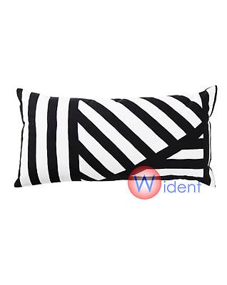 "NEW IKEA Pillow Cushion 12/"" x 24/"" Black White Skaggort"