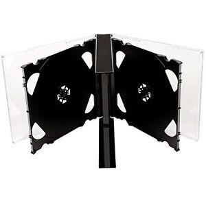 5x-CD-DVD-5-Salidas-carcasa-de-plastico-25mm-para-5-Discos-Con-Negro-Bandeja