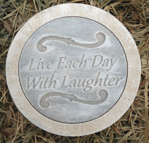 Laughter stepping stone plastic mold concrete plaster mould