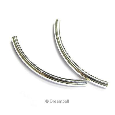 Sterling Silver Filigree Tube Spacer Bead Connector Fit European Bracelet #51844
