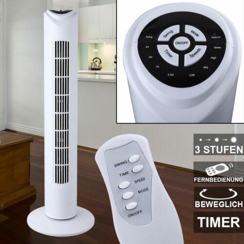 Tower Klima Ventilator Säulen Design Lüfter Timer Fernbedienung 45 W Sommer Büro