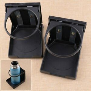 2X Adjustable Folding Drink Cup Holder Mount Boat Marine Caravan Car RV UK