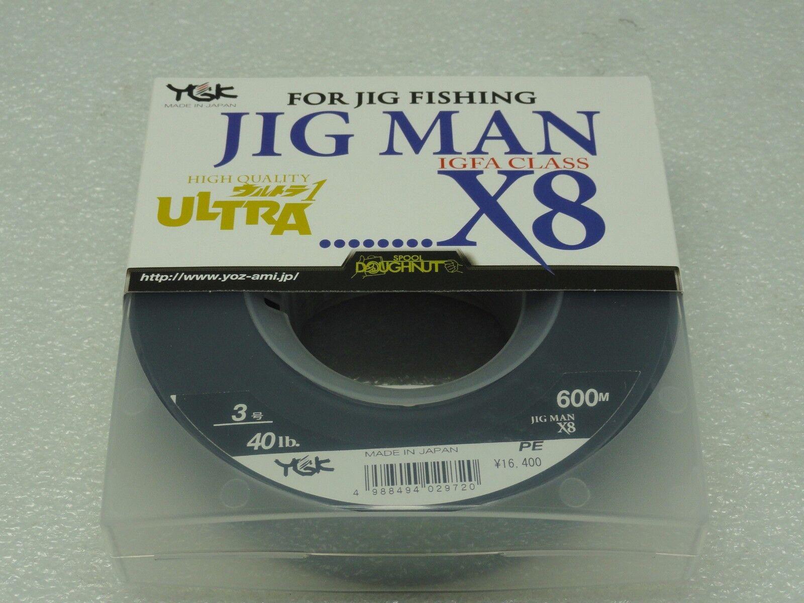 YGK JIG MAN IGFA CLASS X8 8 Braided PE 3 line SPECTRA lb 600m Made in Japan