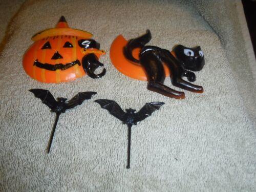 Vintage Halloween Cake Decorations Black Cat Moon Ba 3