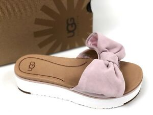 13961a53e29 UGG Australia Women s Joan Seashell Pink 1019868 Slip On Bow ...