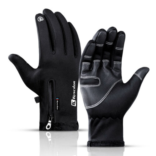 Winter Thermal Ski Gloves Touch Screen Waterproof Windproof for Running Hiking