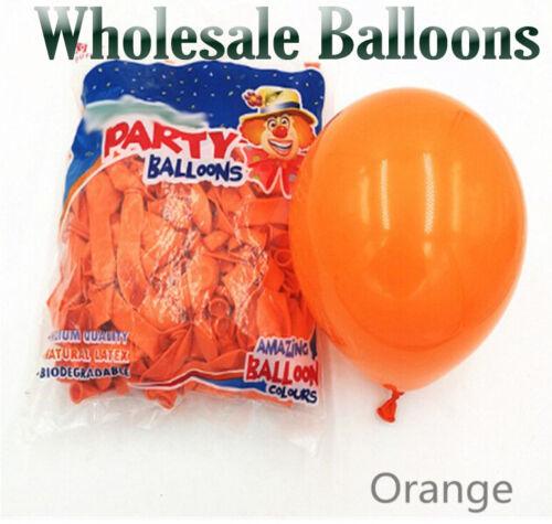 Packs of 100 latex Latex Balloons 5 Inch Plain /& Orange Colour High Quality