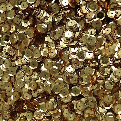 4mm Flat Round Sequins Rich Egyptian Gold Shiny Metallic Made in USA