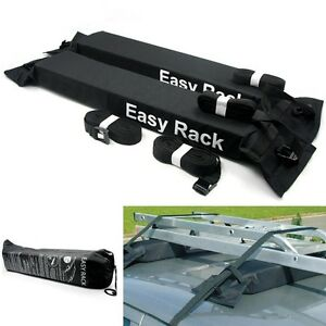 UNIVERSAL-PADDED-SOFT-CAR-ROOF-RACK-BARS-for-LUGGAGE-LADDER-BEARING-THE-LOAD