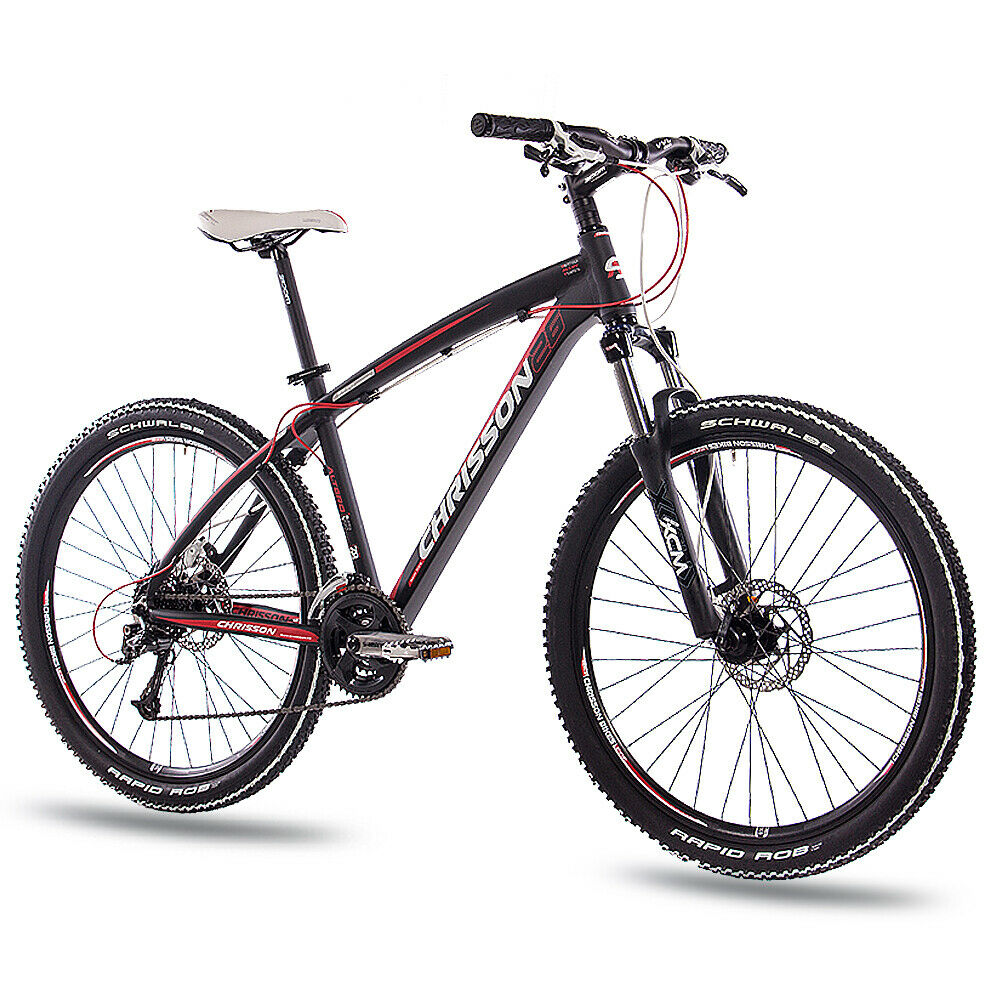 26  Zoll MTB ALU Mountainbike Fahrrad CHRISSON ALTERO 2.0 mit 24G DEORE black