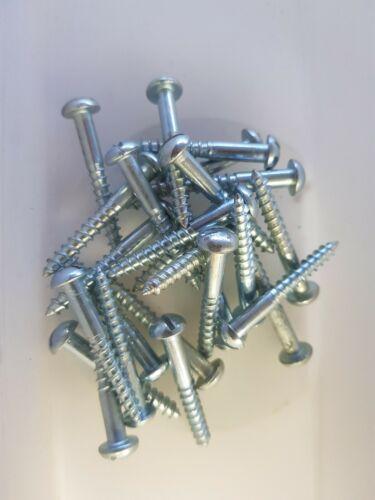 """25 x No 10-1 1//2/"""" rondes en acier Fente Vis à tête-GRATUIT UK p/&p"""