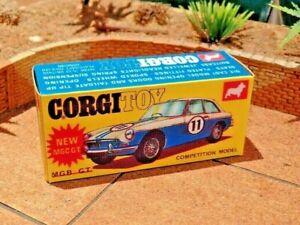 Corgi-NO-345-Mgc-Gt-Competicao-Display-Personalizados-armazenamento-de-substituicao-apenas-A-Caixa