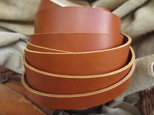 """75"""" EXTRA LONG SADDLE TAN 3.8mm THICK REAL COWHIDE LEATHER STRAP VARIOUS WIDTH"""
