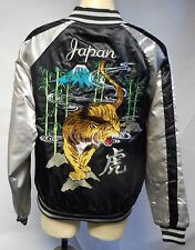 NEW:SUKAJAN Bomber Jacket*TIGER JAPAN (black)*Padded Winter Coat*US men's size M