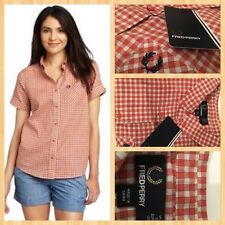 FRED PERRY ladies  Gingham shirt size  10  BNWT