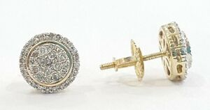 fc4ca7794 Fine Jewelry Fine Earrings 10K Yellow Gold Diamond Studs Concave Kite Pave  Mens Ladies Earrings 0.30 Ct